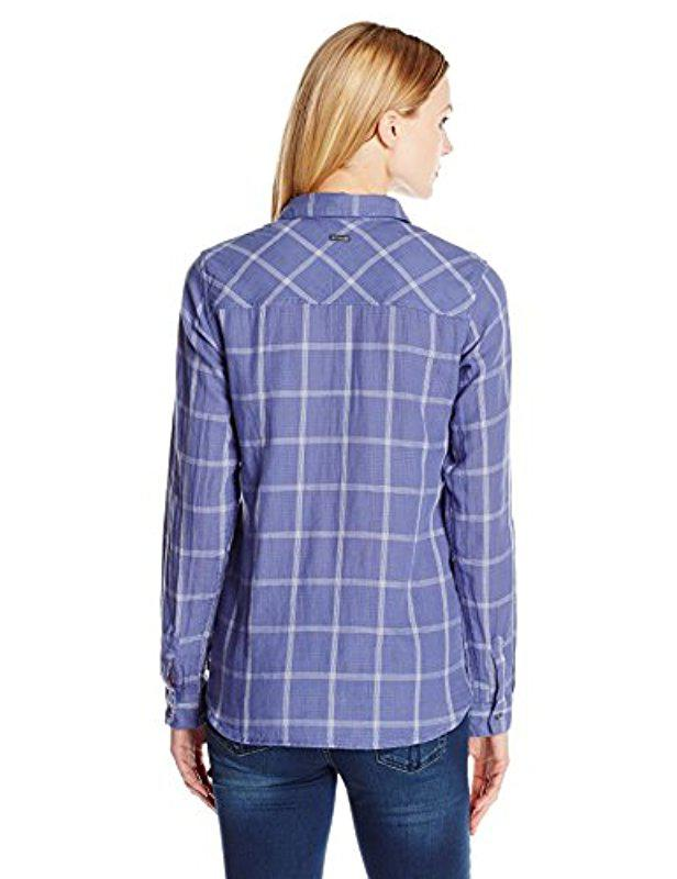 569c80e590a Lyst - Columbia Trail On Long Sleeve Shirt in Blue