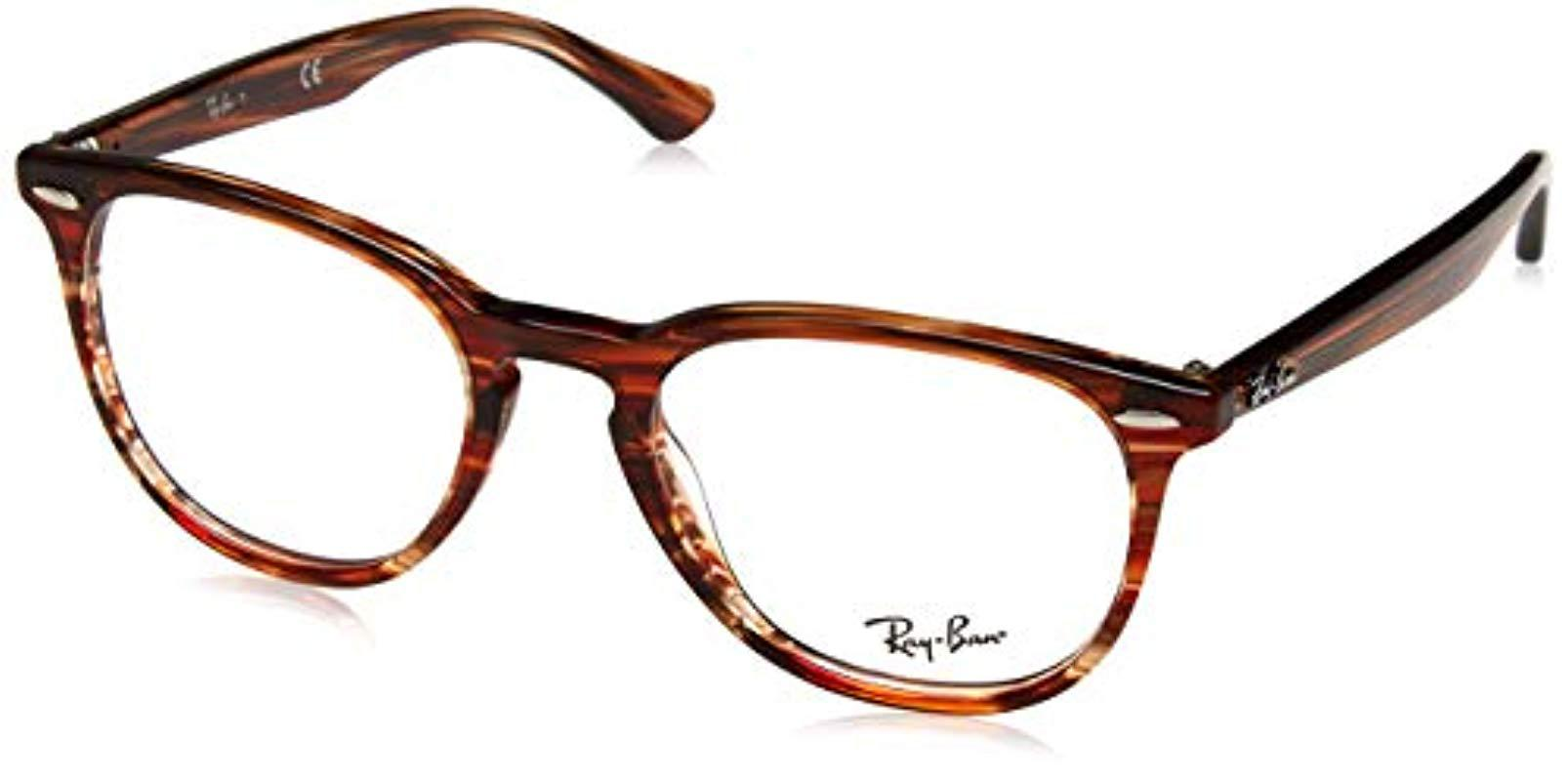 77ceda08af4 Ray-Ban Rx7159 5751 52 Glasses In Brown Beige Striped Rx7159 5751 52 ...