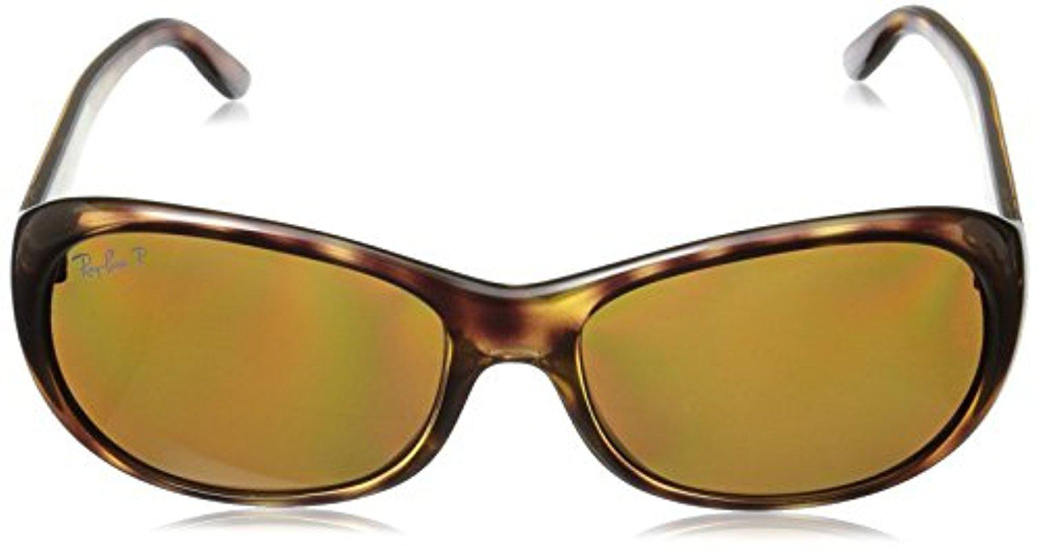 be0920fa8c Lyst - Ray-Ban Rb4061 Polarized Oval Sunglasses