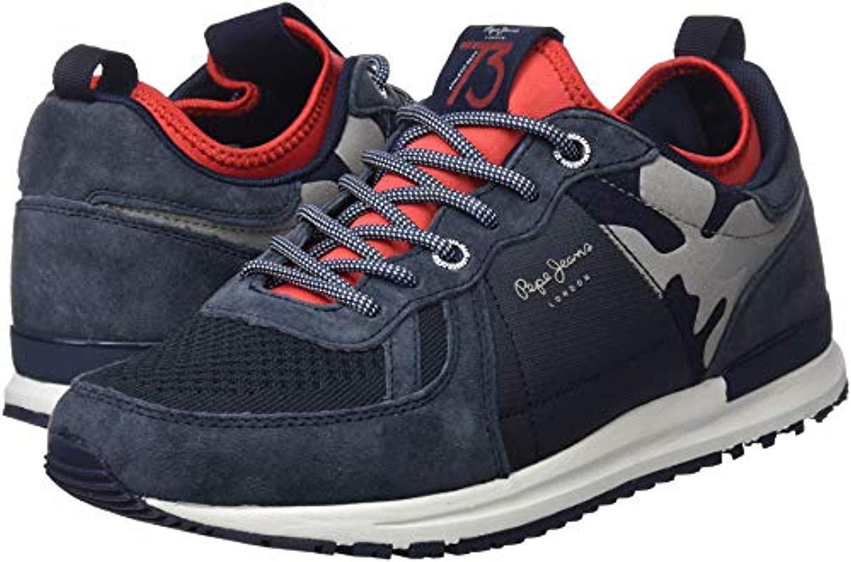 6f346c3f10b6a Pepe Jeans London Tinker Pro-73, Low-top Sneakers in Blue for Men - Save 8%  - Lyst
