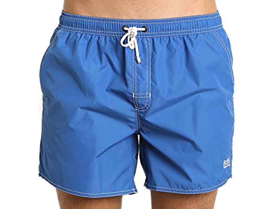 8136eec50 Lyst - Boss Lobster 5 Inch Solid Swim Trunk in Blue for Men