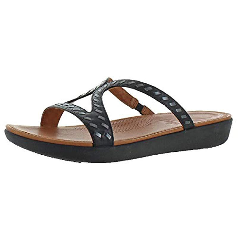 6034608a3d93b Lyst - Fitflop Strata Slide Sandals in Black