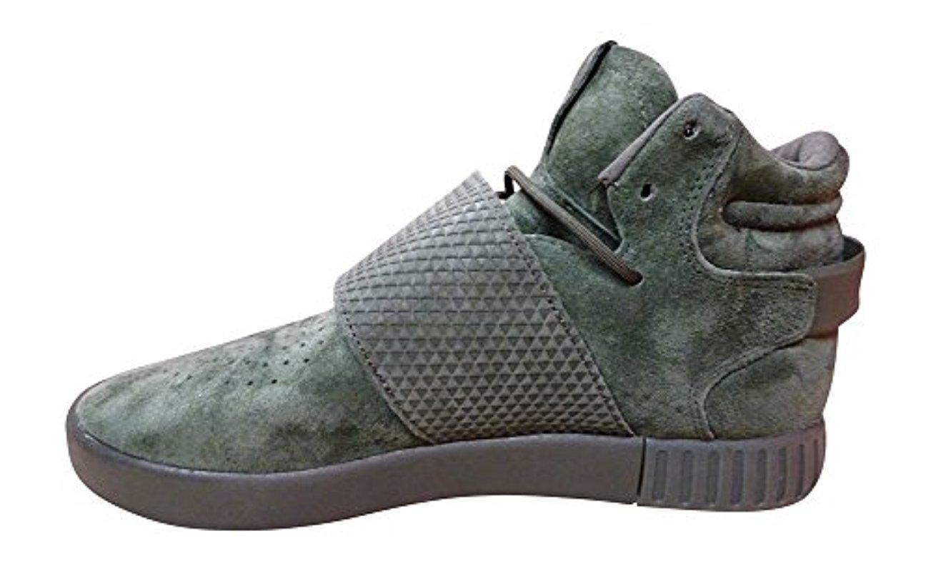 Adidas Originals Black Tubular Invader Strap Shoes Lyst