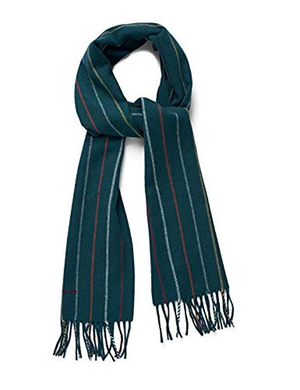 Gant Striped Lambswool Scarf in Green for Men - Lyst 82033dacd6f62