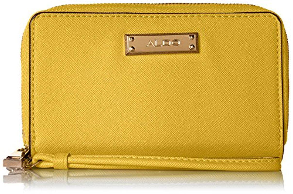 17e478c5aee ALDO Noedia Wallet in Yellow - Lyst