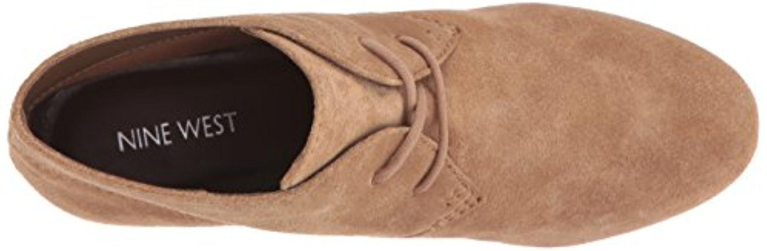 d1509a19d2f0 Nine West - Natural Joanis Suede Boot - Lyst. View fullscreen