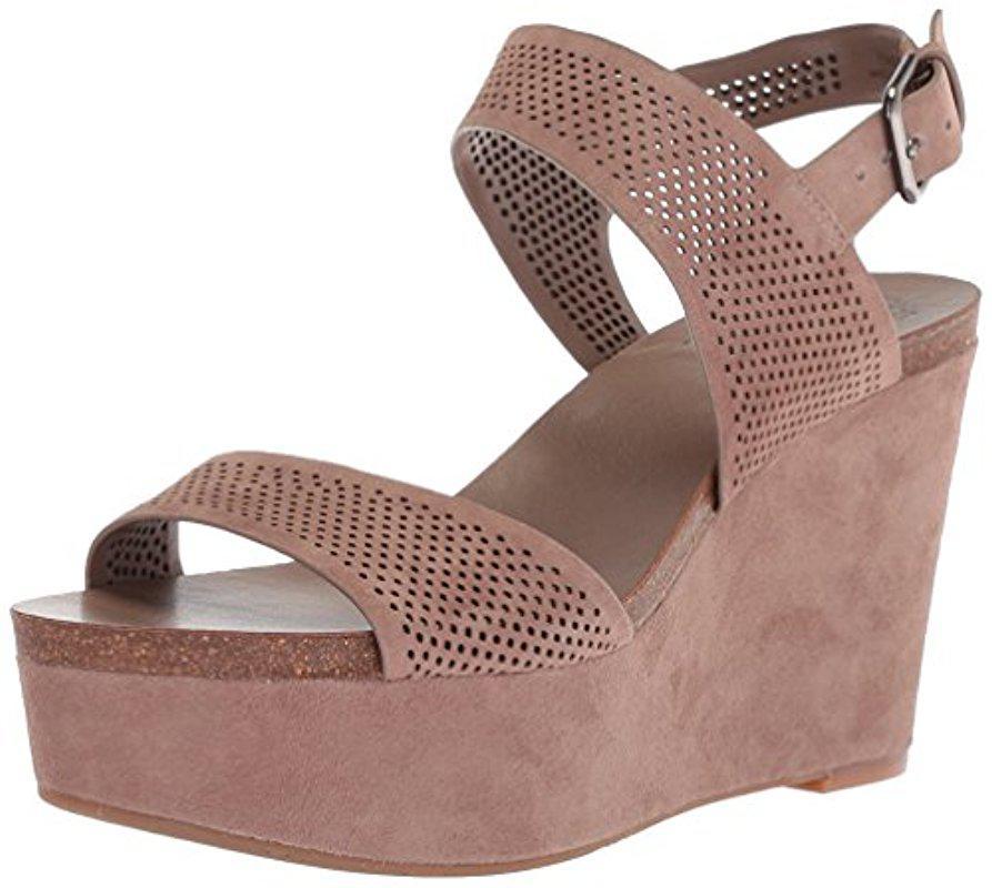 Vince Camuto Vessinta Suede Platform Wedge Sandals Z5AI5pD6
