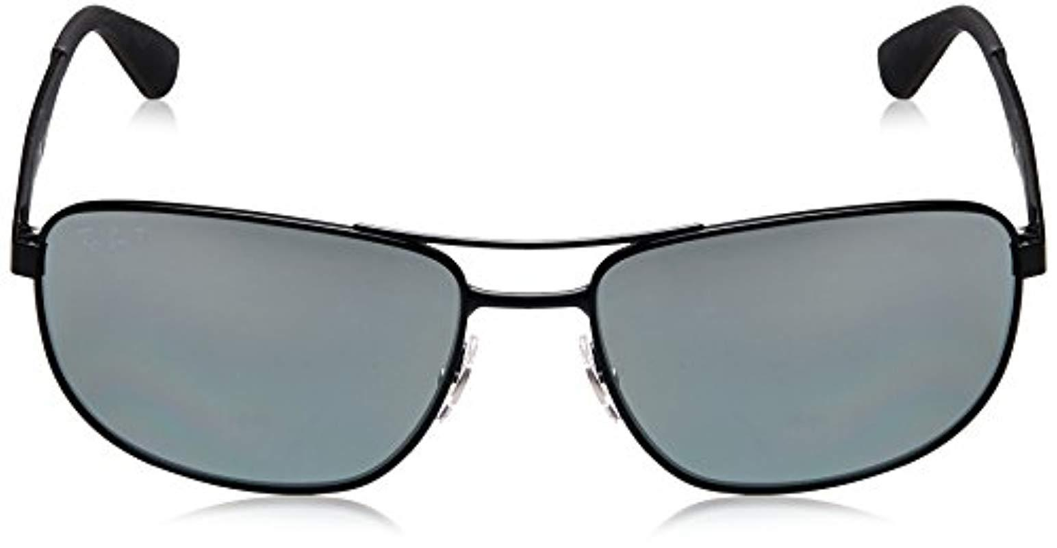 7daf3482313b8 Ray-Ban - Metal Sunglasses In Matte Black Polarised Rb3528 006 82 61 for.  View fullscreen
