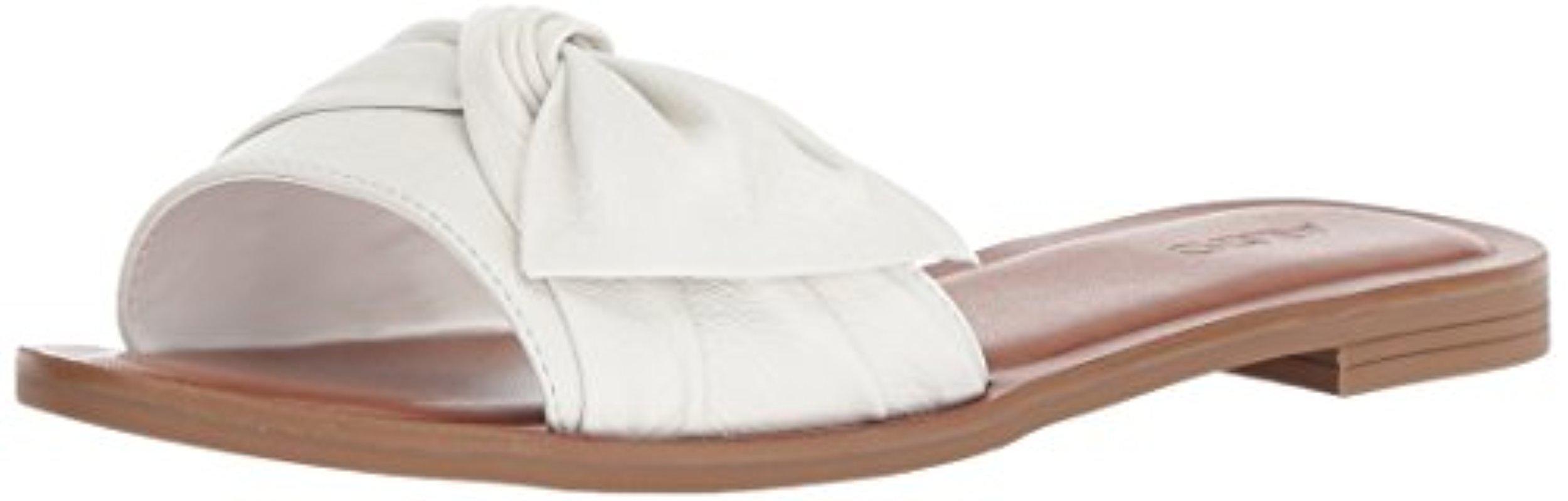 bc4c2afbf206 Lyst - ALDO Enroelia Slide Sandal in White