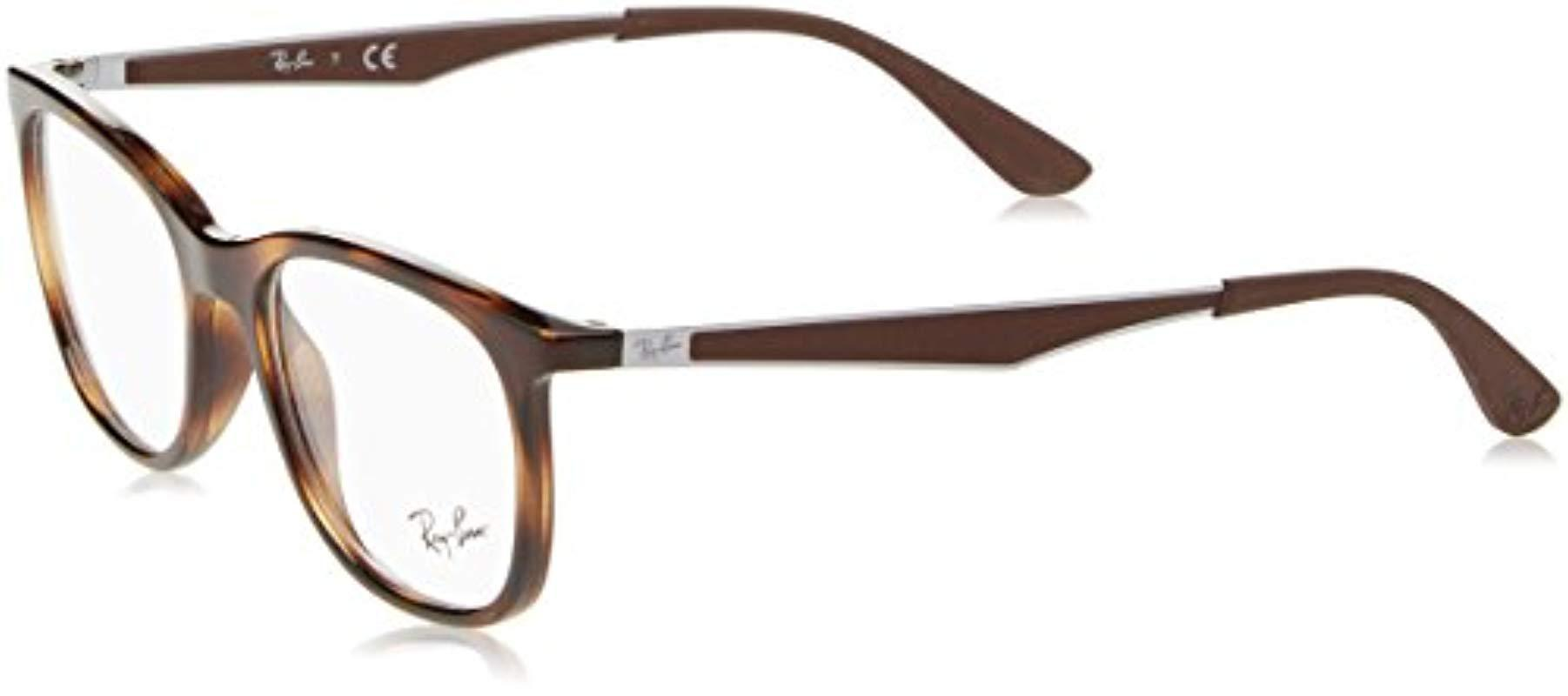 a62dfe7c1a2 Ray-Ban Rx7078 Glasses In Shiny Black Rx7078 2000 53 in Brown for ...