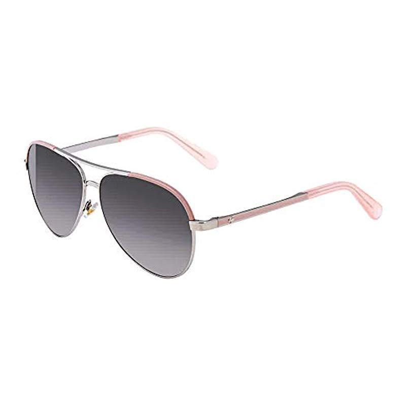 2671a8b9f2 Kate Spade. Women s Kate Spade Amarissa s Polarized Aviator Sunglasses Silv  Pink 59 Mm