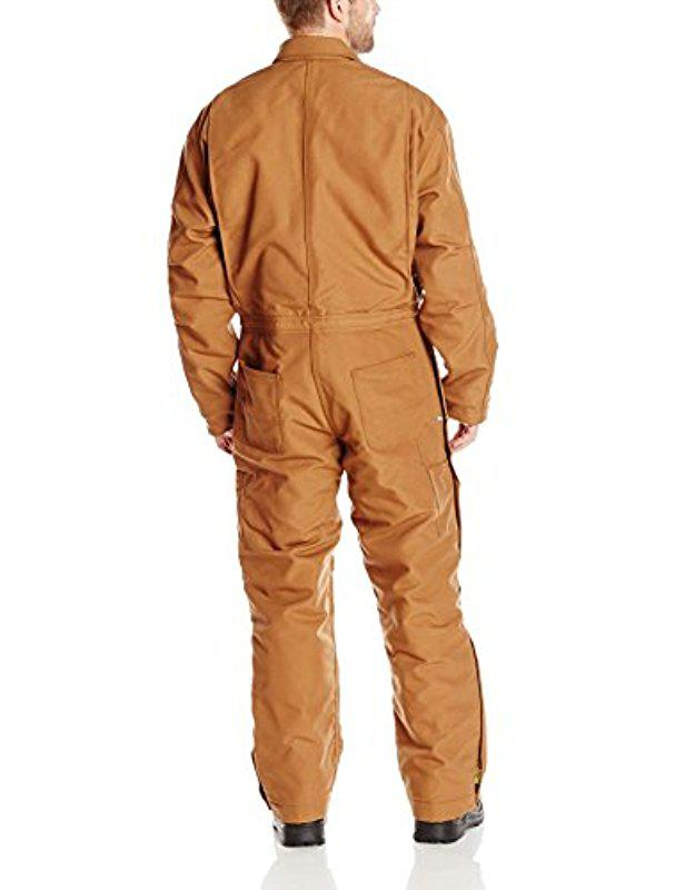 d82eab9c49e8 Lyst - Carhartt Flame Resistant Duck Coverall in Brown for Men