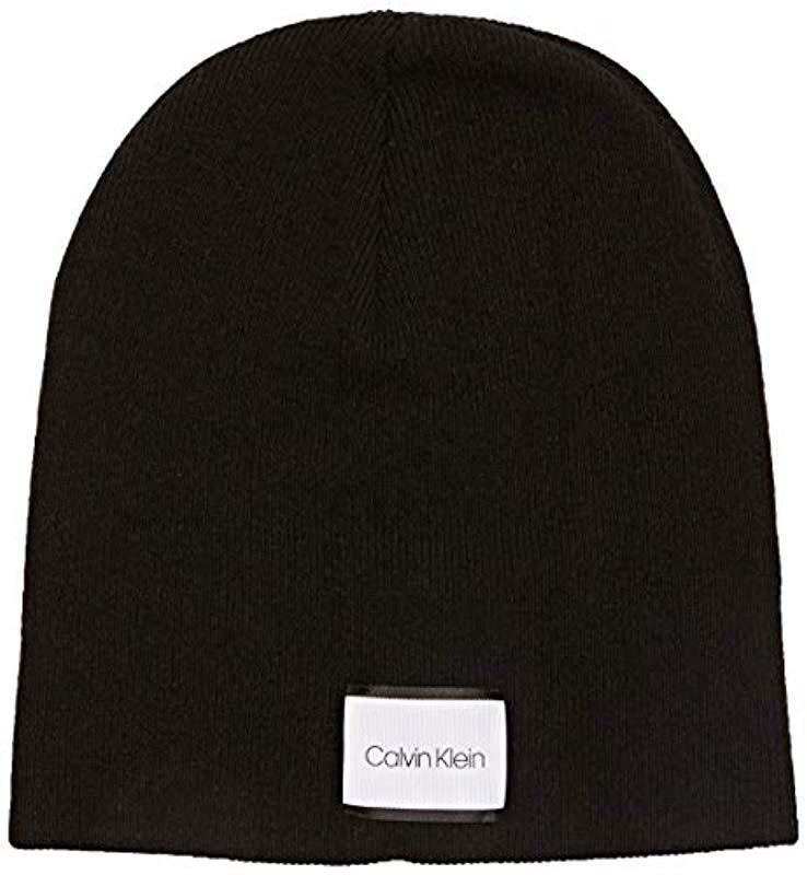 f6fabfb4e1b Calvin Klein - Black Classic Beanie W - Lyst. View fullscreen