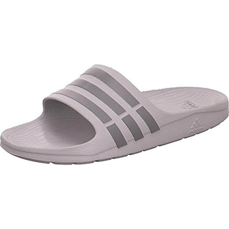 9a7695cd1670a Adidas Unisex Adults  Duramo Slide Beach And Pool Shoes in Gray - Lyst