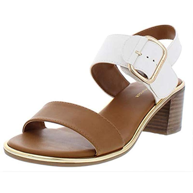 ed5687126c Lyst - Tommy Hilfiger Katz Heeled Sandal in White - Save 35%