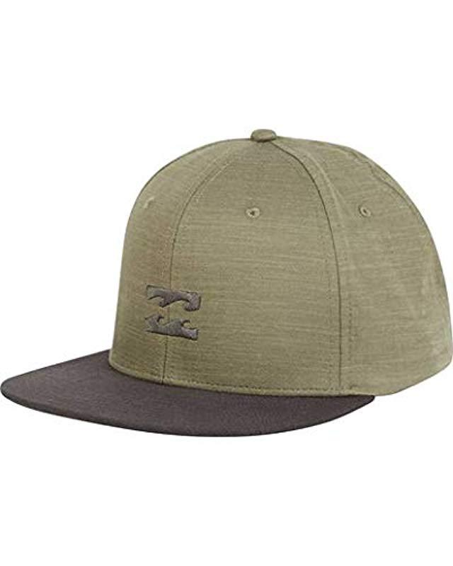 bbe96f46527ee Lyst - Billabong All Day Heather Snapback Hat in Green for Men ...