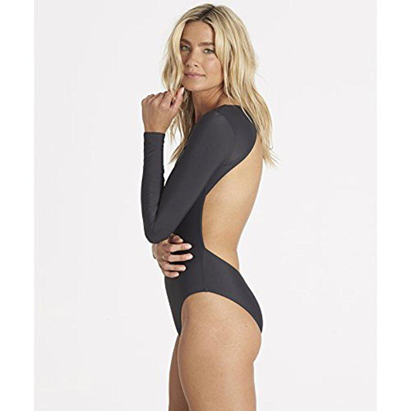 0512e06609 Lyst - Billabong Slim Surf More Bodysuit One Piece Swimsuit in Black