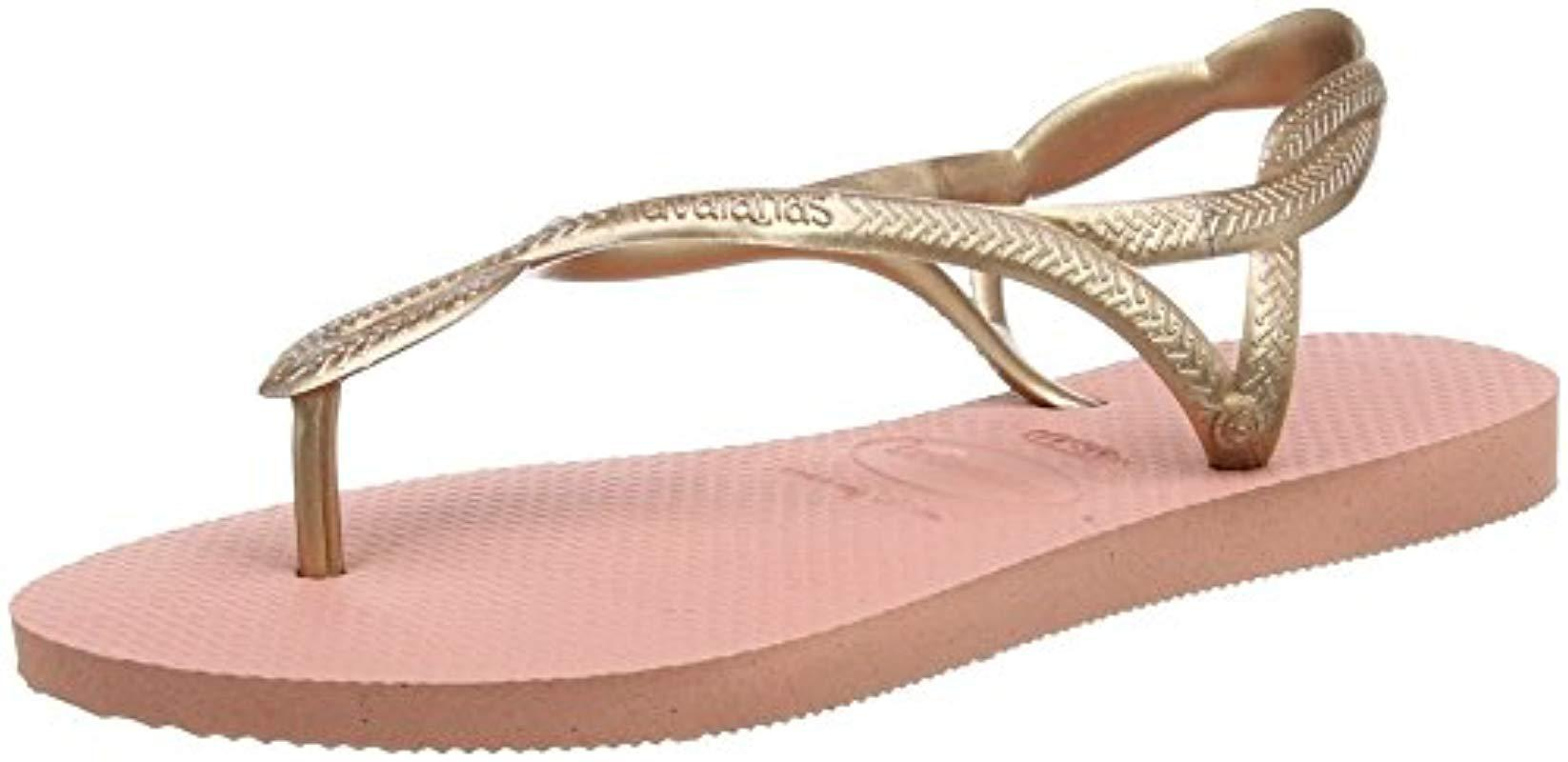 585800091f49d Havaianas Luna Sandals in Pink - Save 4.545454545454547% - Lyst