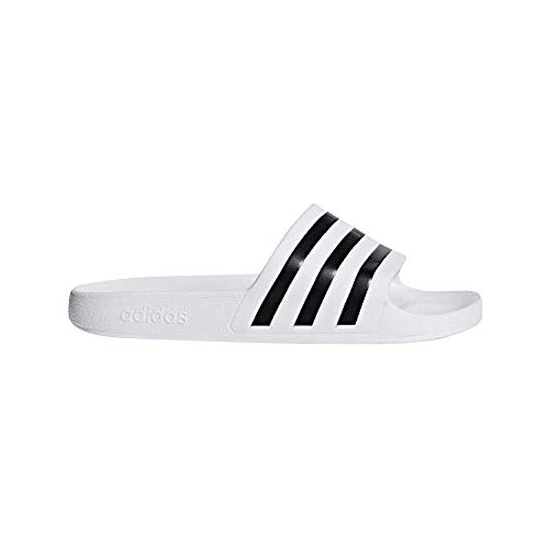 pretty nice 70666 7d3e8 adidas. White Unisex Adults Adilette Aqua Beach  Pool Shoes