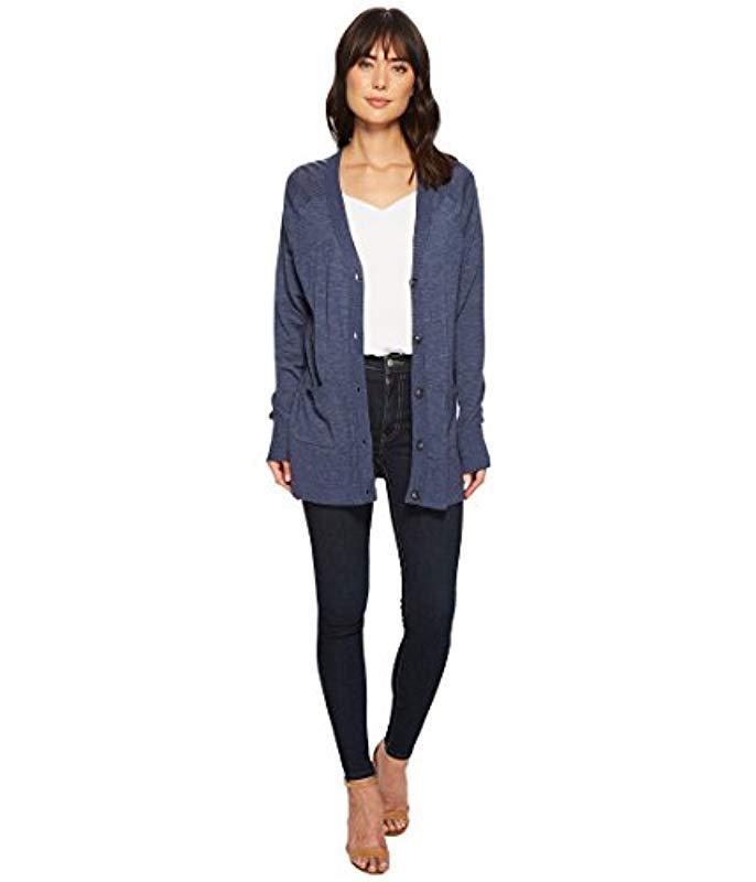 Lyst - Pendleton Lightweight Merino Wool Cardigan Sweater in Blue 42066ff64