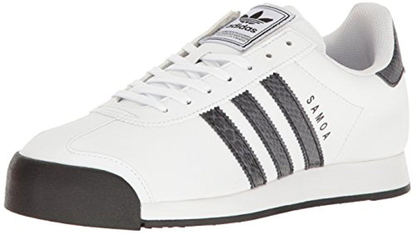 lyst adidas originals samoa retro - sneaker in weißen männer