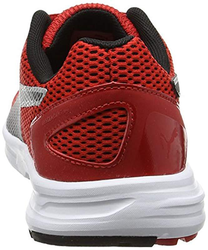 Puma Unisex Adults' Descendant V4 Running Shoes, Black in Red for Men - Lyst
