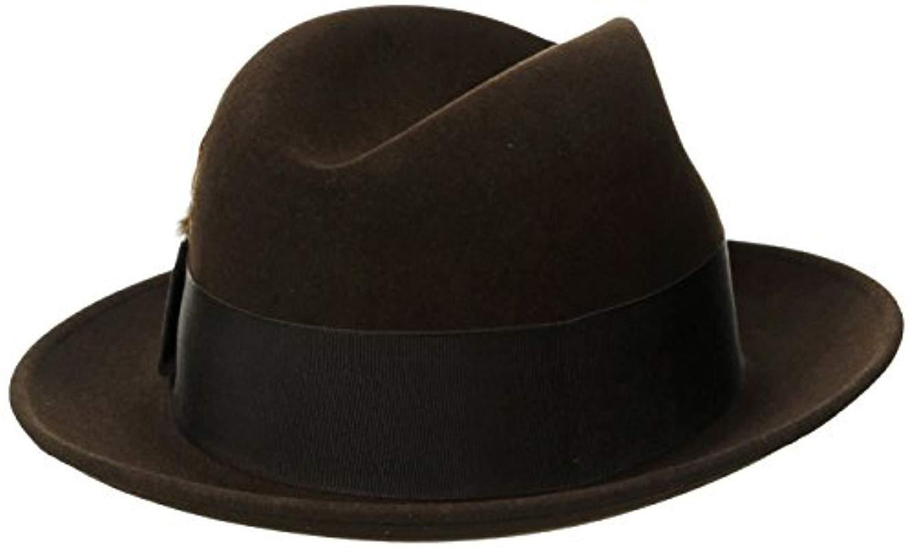0396d7c583e5b Stetson - Black Saxon Royal Quality Fur Felt Hat for Men - Lyst. View  fullscreen