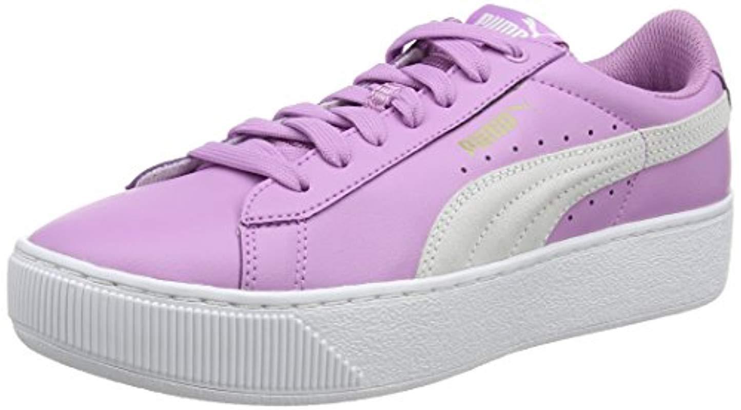 2fab7064187a PUMA Vikky Platform L Trainers in Purple - Lyst
