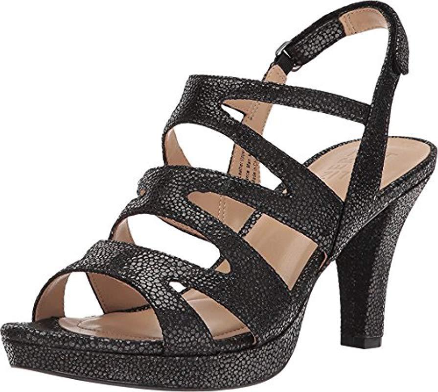 b8a7c0b58eb3 Lyst - Naturalizer Pressley Platform Dress Sandal in Black - Save 44%
