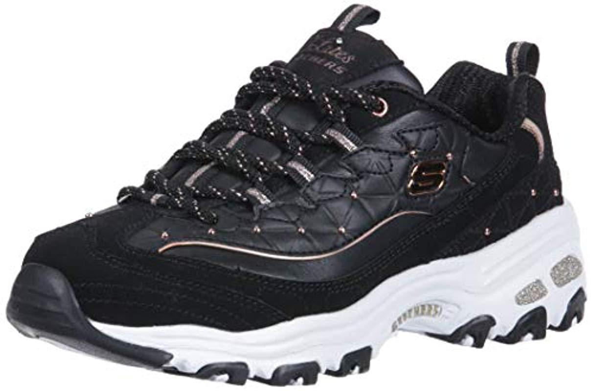 44a3a15adc299 Skechers D lites-floral Days Trainers in Black - Save 43% - Lyst
