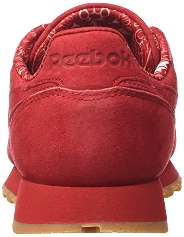 5ebedba4ee80 Reebok Cl Leather Tdc Sneakers in Red for Men - Lyst
