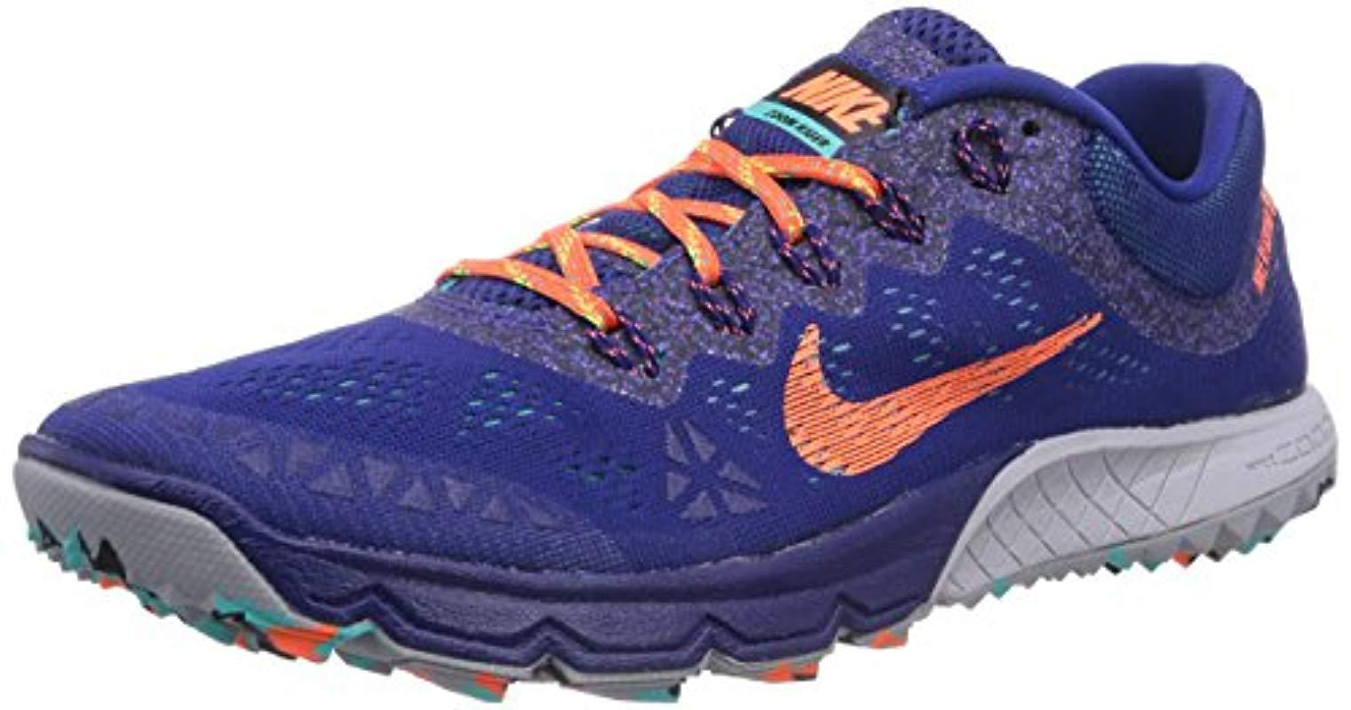 eea1305a4ba Nike Air Zoom Terra Kiger 2 Running Shoes in Blue - Lyst