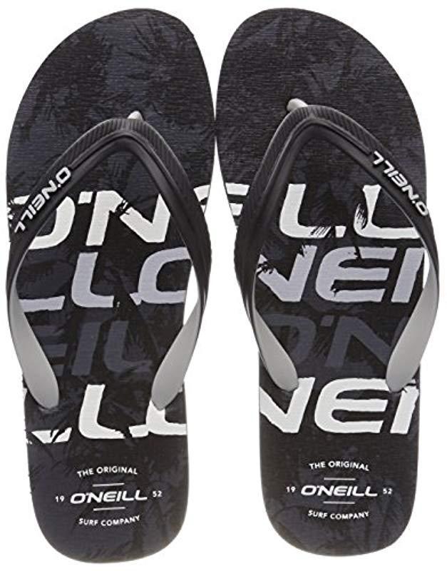 a8cbbd67176ef8 O Neill Sportswear Fm Profile Pattern Flip Flops in Black for Men - Lyst
