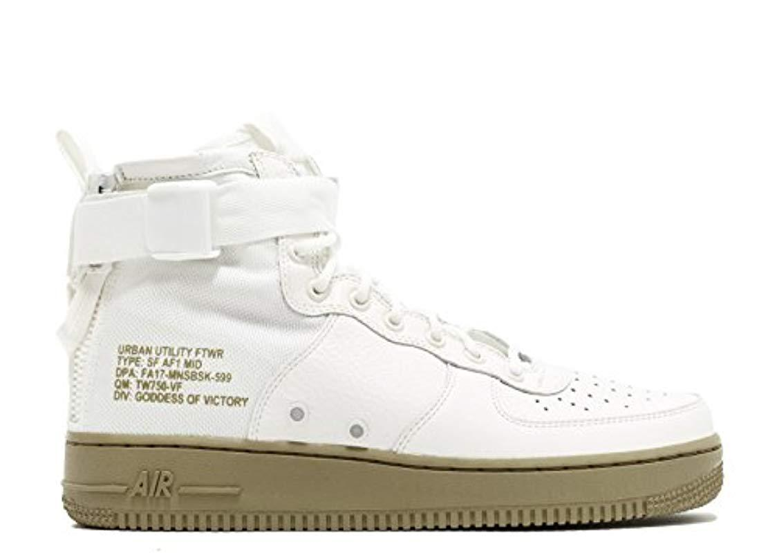 the best attitude 9ec2f 865c6 Nike - White Sf Af1 Mid Gymnastics Shoes for Men - Lyst. View fullscreen