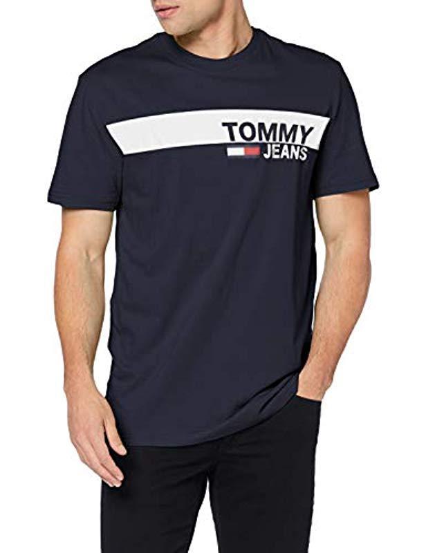 ac65b8a1 Tommy Hilfiger Tjm Essential Box Logo Tee T-shirt in Blue for Men - Lyst