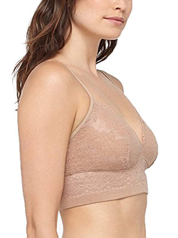 2a0b5b96816c Lyst - Yummie Romance Lace Cami Bralette Underwear in Natural