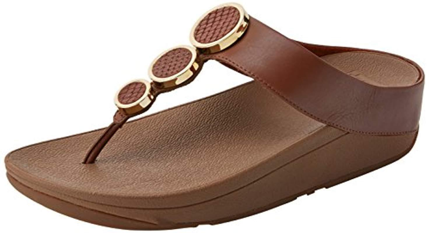 a2f48d33e14ecb Fitflop Halo Toe Thong Sandals Platform in Brown - Lyst