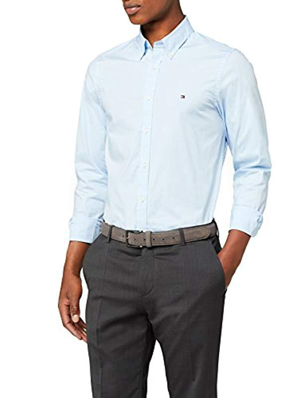 41ed6e60 Tommy Hilfiger Stretch Poplin Slim Fit Long Sleeve Casual Shirt in ...