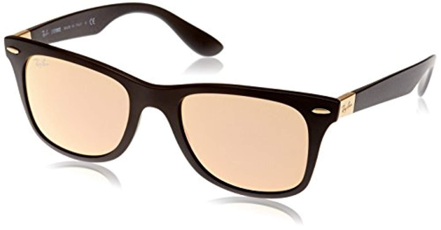 87c6d9486 ... good ray ban liteforce wayfarer sunglasses in matte black copper flash  b972e 5406b