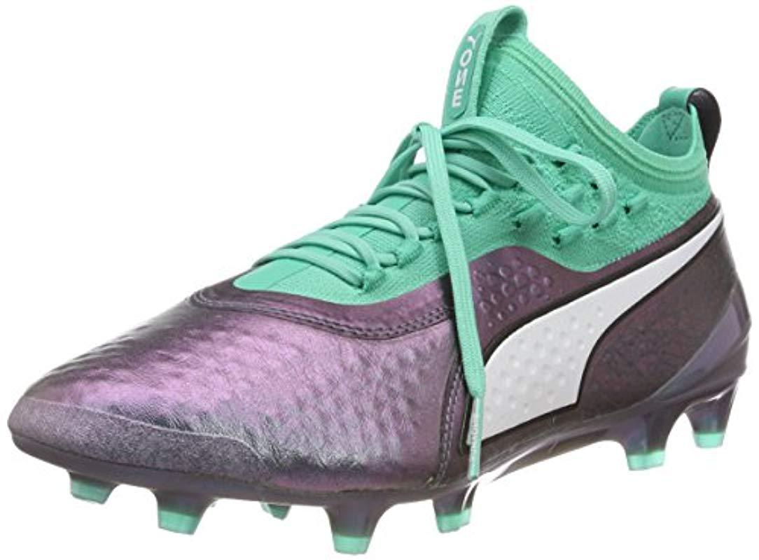 Puma One 1 Il Lth Fgag Footbal Shoes in Green for Men Lyst