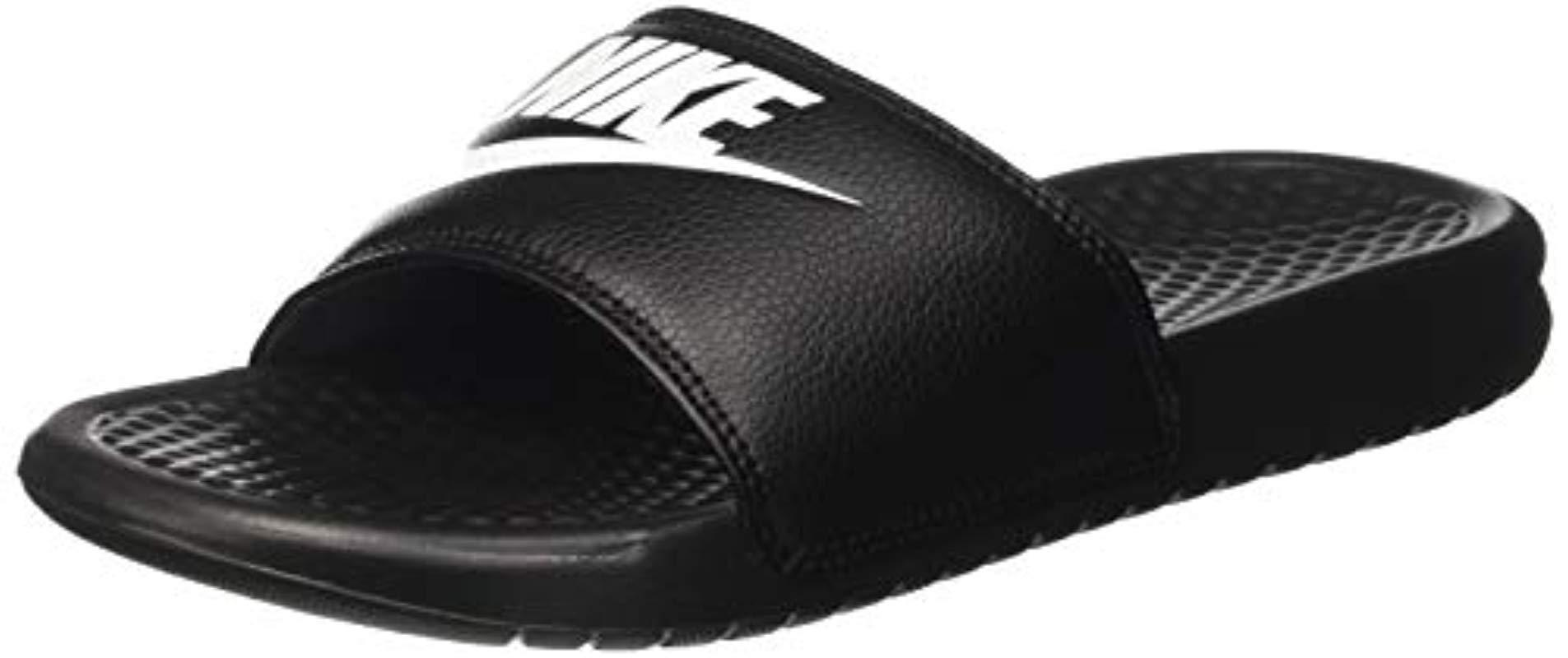 Nike  s Benassi Blue Flip Flops in Black for Men - Save 53% - Lyst 0fbed1ae1