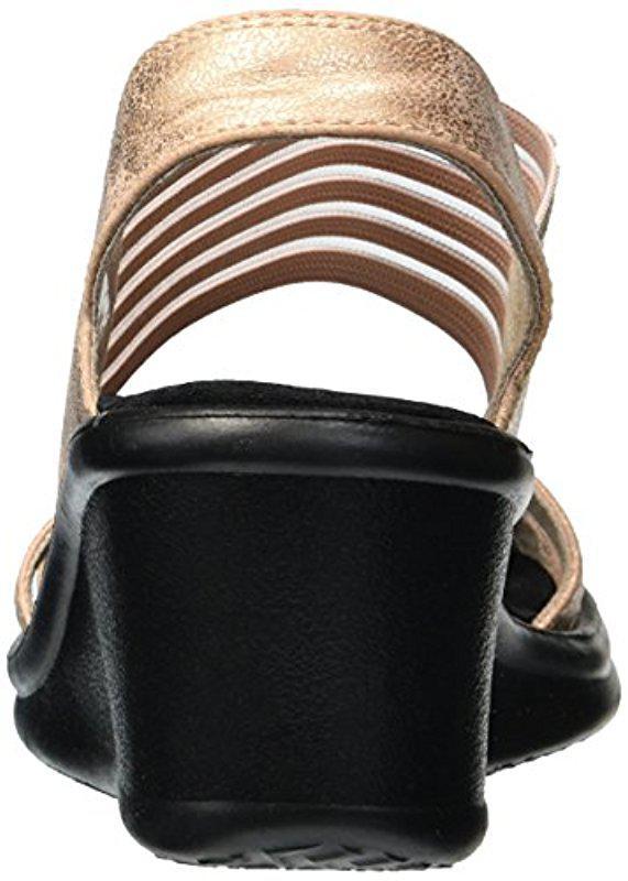 8020c50886c Skechers - Black Rumblers-glam Society Wedge Sandal - Lyst. View fullscreen