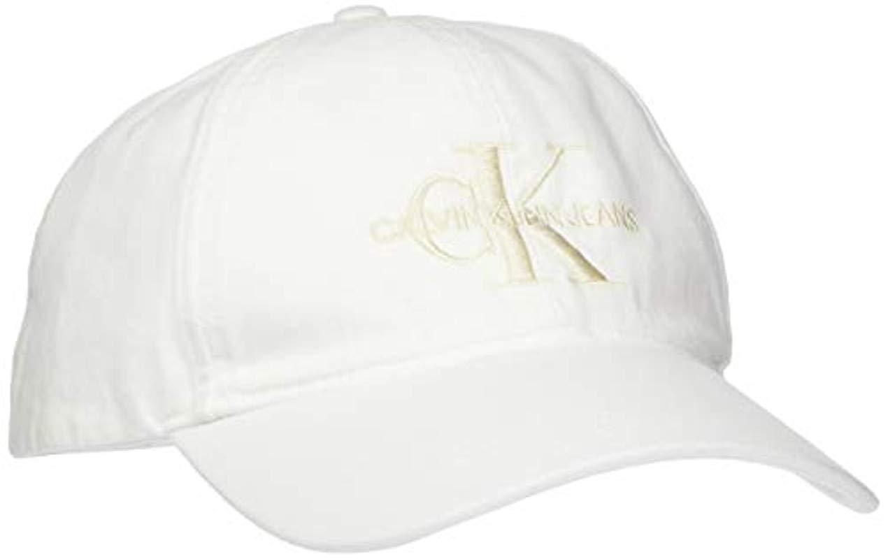 1043d3267 Calvin Klein J Monogram Cap M Baseball in White for Men - Lyst