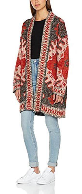 8f7f723572b8 Pepe Jeans Liza Cardigan in Red - Lyst
