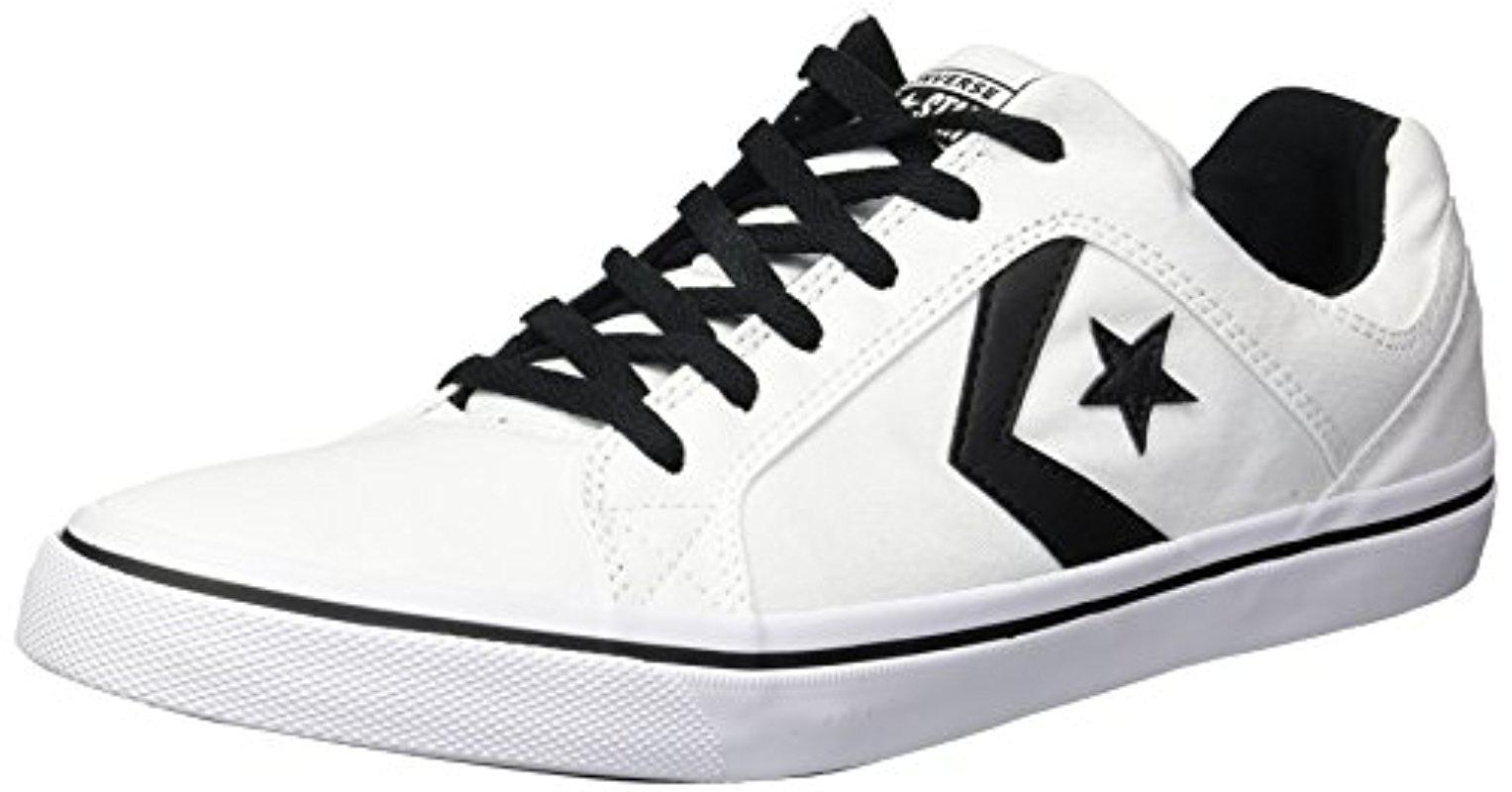 Converse El Distrito Ox Black Mens Canvas Low top Lace Up Sneakers Trainers
