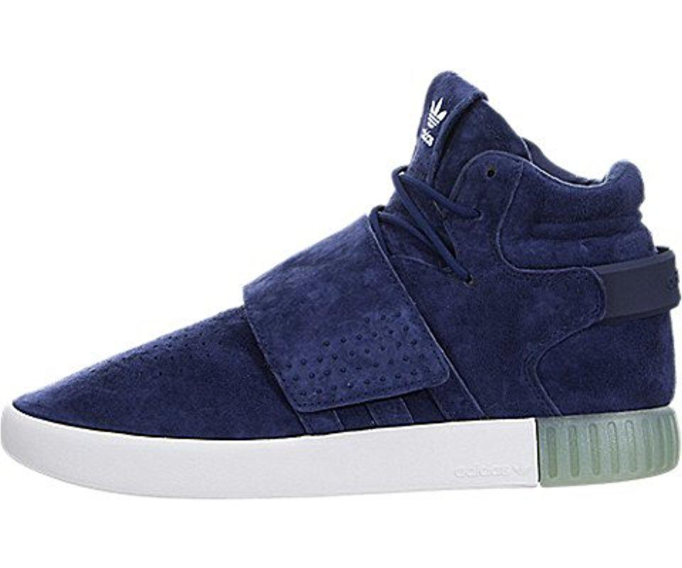 newest afa57 318c2 Lyst - Adidas Originals Tubular Invader Strap Shoes in Blue ...