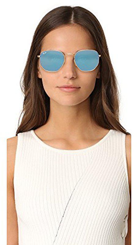 7afbde4655 ... Rb3548n Hexagonal Flat Lenses Sunglasses for Men - Lyst. View fullscreen