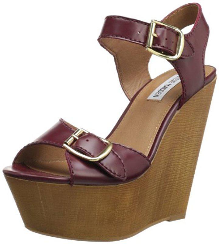 Steve Madden Verdes Wedge Sandal(Women's) -White Multi Synthetic Online KQKVHJsYa