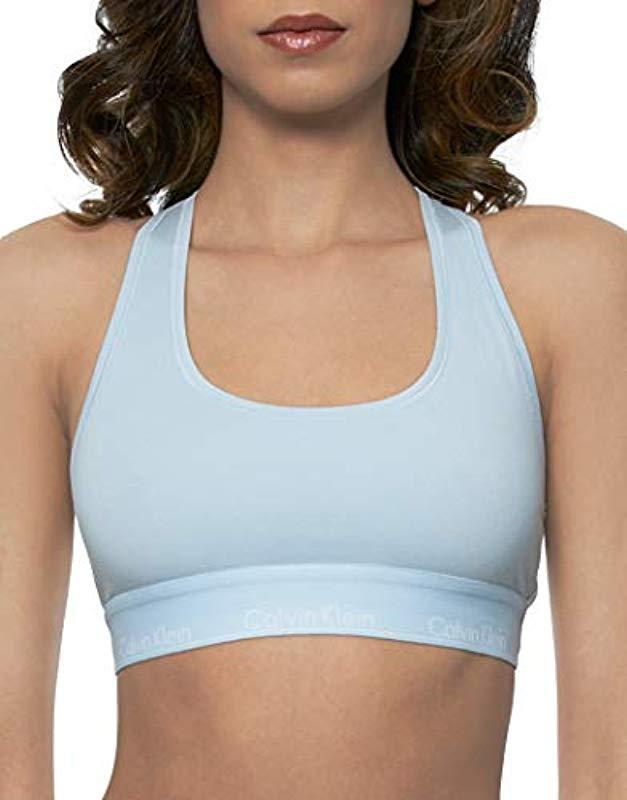 5494b340588 Lyst - Calvin Klein Modern Cotton Bralette in White