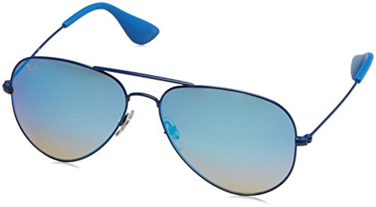 2f8b5df6377 Ray-Ban Aviator Sunglasses In Blue Rb3558 9016b7 58 in Blue for Men ...